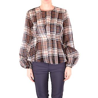 Alysi Ezbc1345007 Mujeres's Blusa de algodón multicolor
