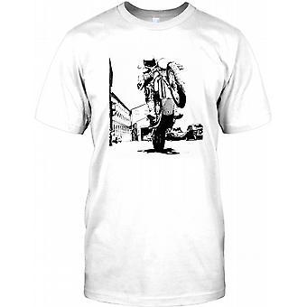 Motorbike Wheelie - Max Throttle Mens T Shirt