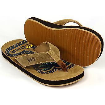 RVCA Mens VA Sport liitto valtion sandaalit-Tan/Navy