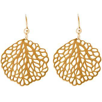 Gemshine Maritim Nautics örhängen Anemone örhängen 925 silver, guldpläterad, ros