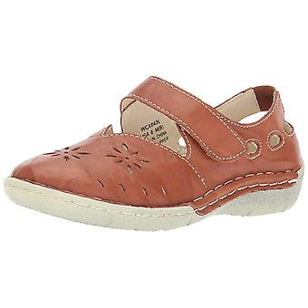 Propét Womens Chloe Leather Round Toe Mary Jane Flats