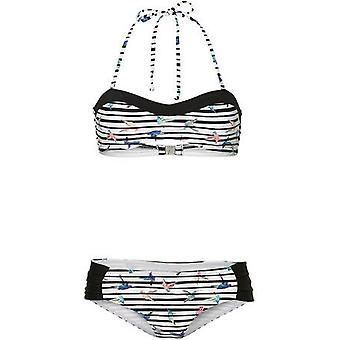 ONeill Print bandeau Bikini i vitt aop W/rosa eller lila