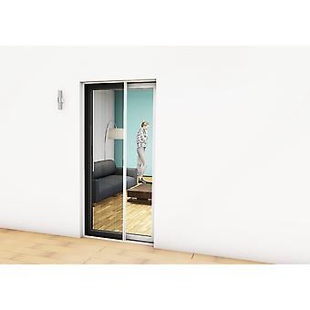 Fly screen door Kit insect protection pleated door 125 x 220 cm in Brown