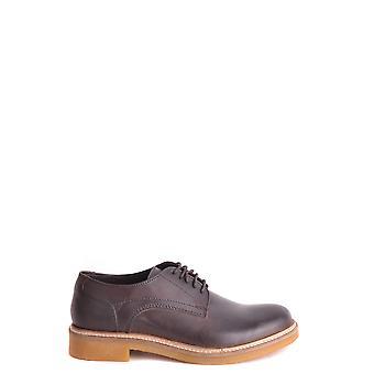 Basis Londen Ezbc207005 Heren's Brown Leather Lace-up Schoenen