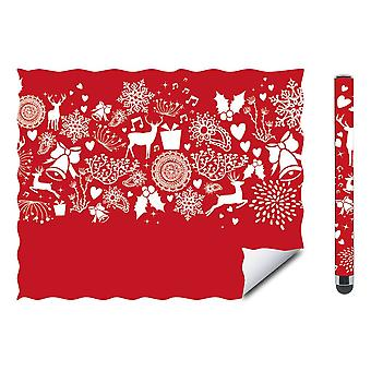 Speedlink Cerimo Stylus and Cleaning Cloth Christmas Set - Red/White