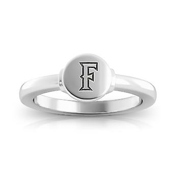 California State U-Fullerton Engraved Sterling Silver Signet Ring