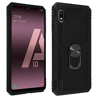 Galaxy A10 Case Bi Material Rigid Soft Magnetic Ring Stand Noir