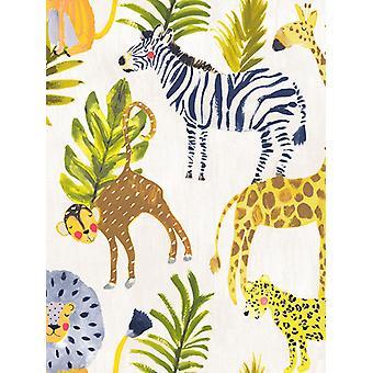 Pouco ones eco Safari wallpaper multi GranDeco LO2201