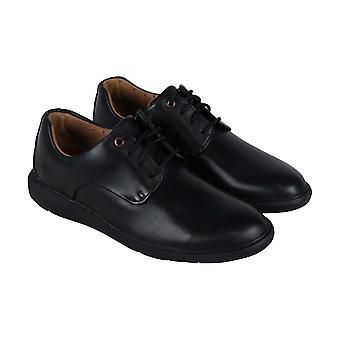 Clarks Un Voyage Plain  Mens Black Leather Comfort Casual Oxfords Shoes