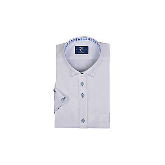 R2 Short Sleeve Shirt White/blue Trim