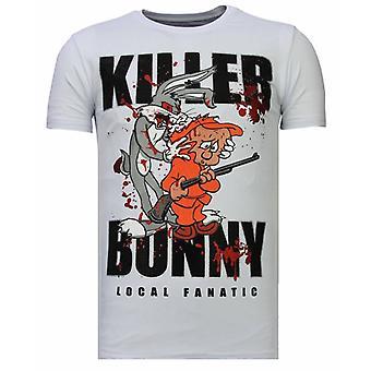 Killer Bunny-Rhinestone T-shirt-White