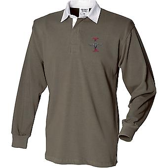 1er Bataillon Parachute Regiment - Licence British Army Embroidered Long Sleeve Rugby Shirt