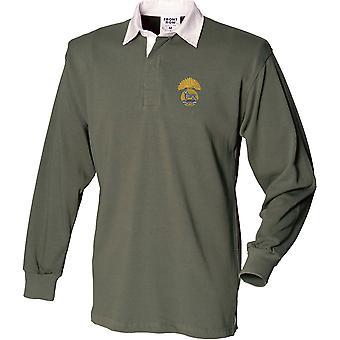 Royal Munster Fusiliers - Camisa de rugby de manga larga bordada con licencia del ejército británico