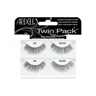 Ardell Twinpack 105 Black Easy To Apply Full False Eye Lashes