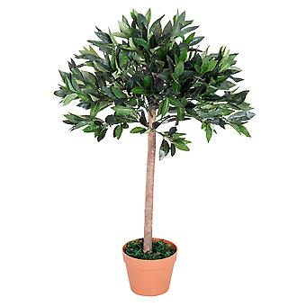 Outsunny 3ft  Artificial Olive Tree Indoor Plant Greenary for Home Office Potted in An Orange Pot 90 cm