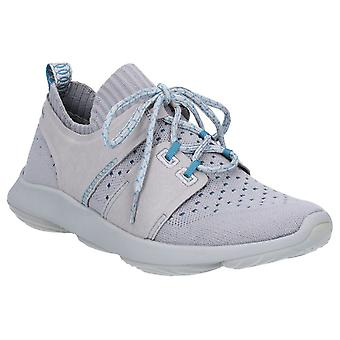 Hush Welpen Womens World BounceMax Lace Up Trainer Frost grau stricken