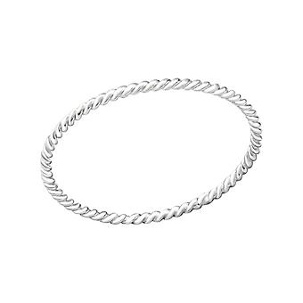 الملتوية -- 925 الجنيه الاسترليني الفضة عادي خواتم -- W29454X