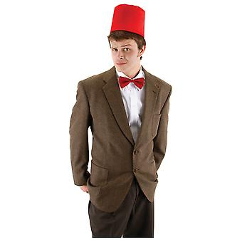 Doctor Who BBC The Eleventh Time Gallifreyan Deluxe Fez Bowtie Mens Costume Kit
