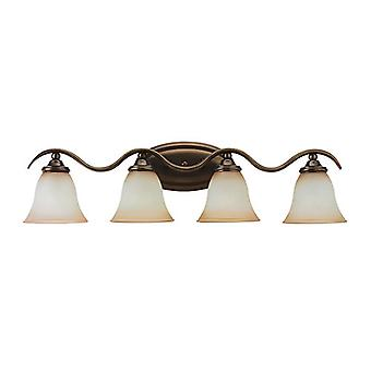 Sea Gull Lighting 44362-829 Rialto 4-Light Vanity Bath Bar Russet Bronze Finish
