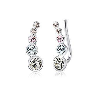 Kolczyki damskie Elli Silver 925_argento okrągłym kryształem