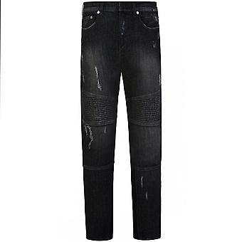 Neil Barrett regelbunden Rise Black jeans