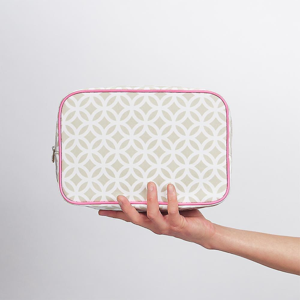'victoria green' beauty kit case in geometric sage