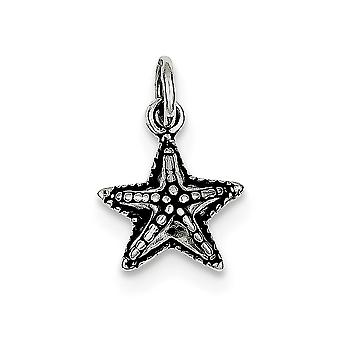 925 Sterling Silver Solid Open back finish Sea shell Nautical Starfish Charm Pendant Necklace Jewelry Gifts for Women