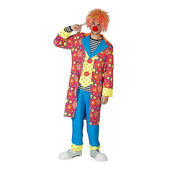 Cirkus clown mäns kostym Celestial Funmaker stjärnor stjärnor HarlequinMen ' s kostym