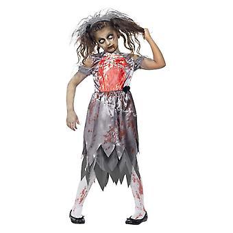 Mädchen Kinder Zombie Braut Halloween Fancy Kleid Kostüm