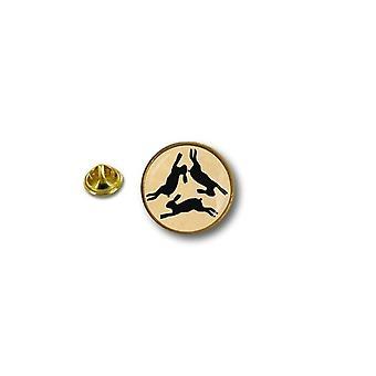 Pine Pines PIN rinta nappi PIN-apos; s metalli Broche Papillon Flag symboli kolme Lievres