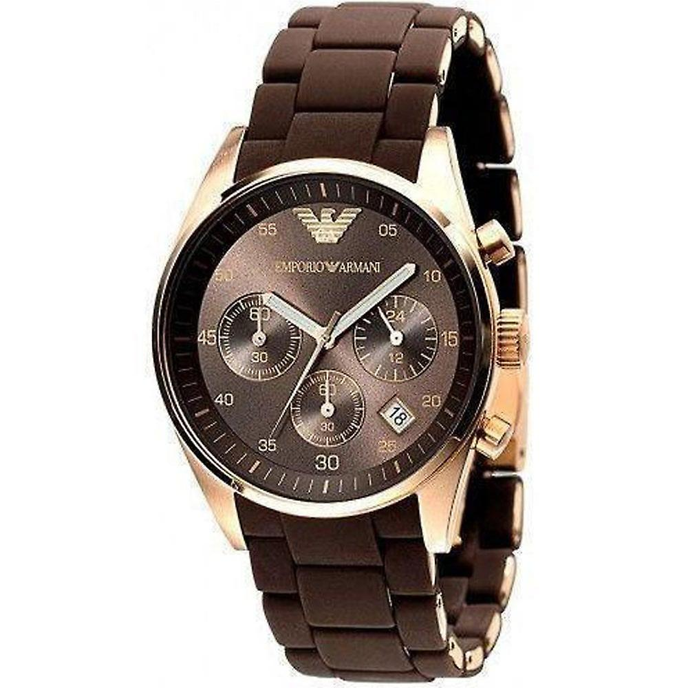 Armani Watches Ar5891 Brown & Rose Gold Ladies Watch