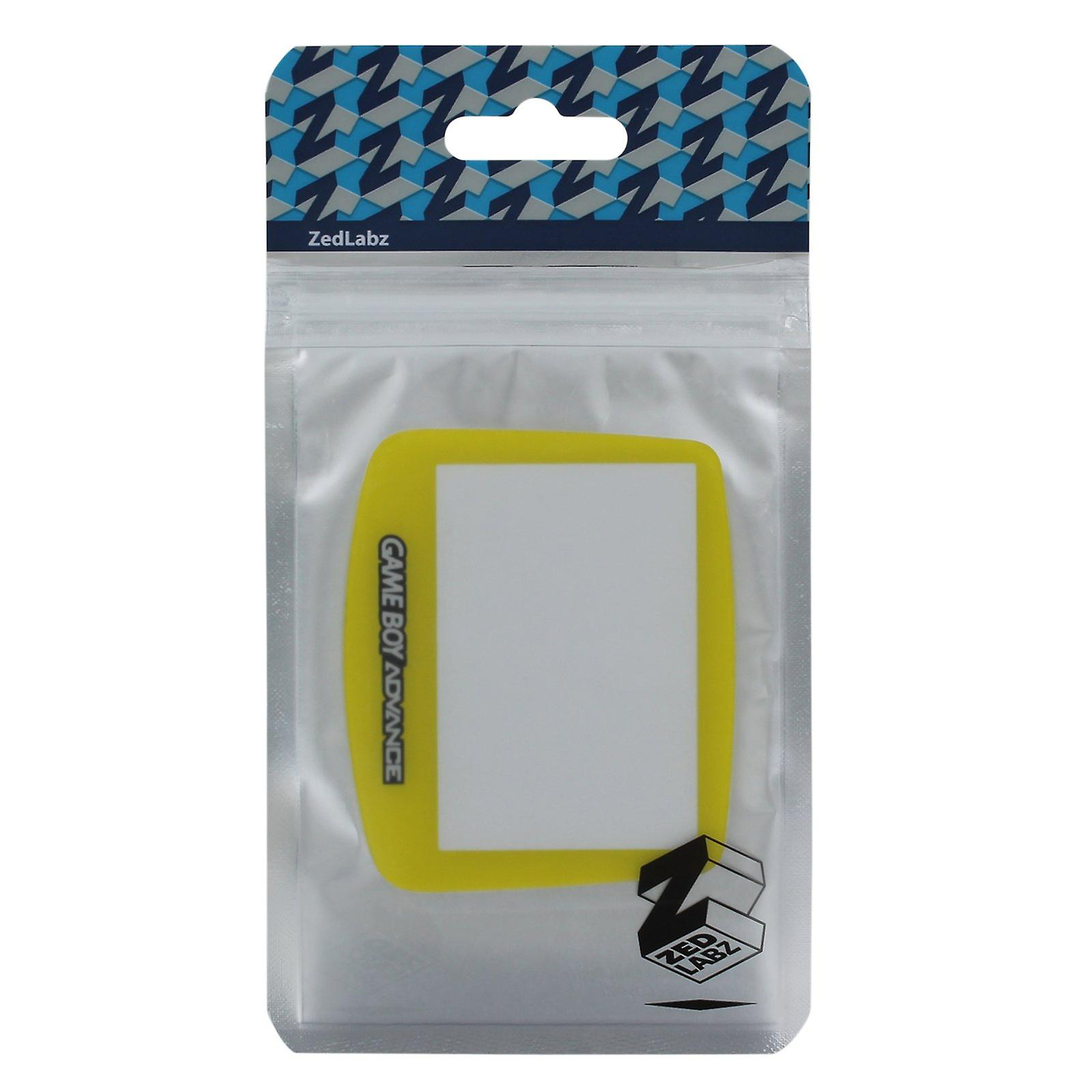 Replacement screen lens plastic cover for nintendo game boy advance - yellow
