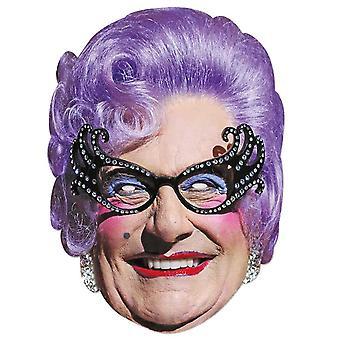 Dame Edna Everage Celebrity  2D Single Card Party Face Mask