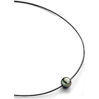Luna-Pearls Beads Choker TahitiPerlen 11-12 mm Steel 3001240