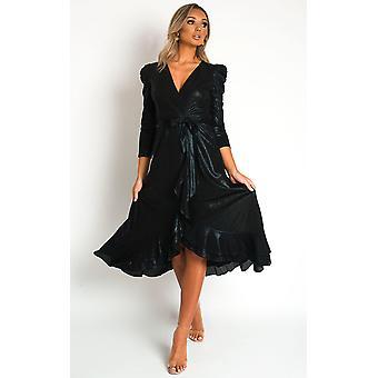 IKRUSH Womens Mary Metallic Maxi Dress