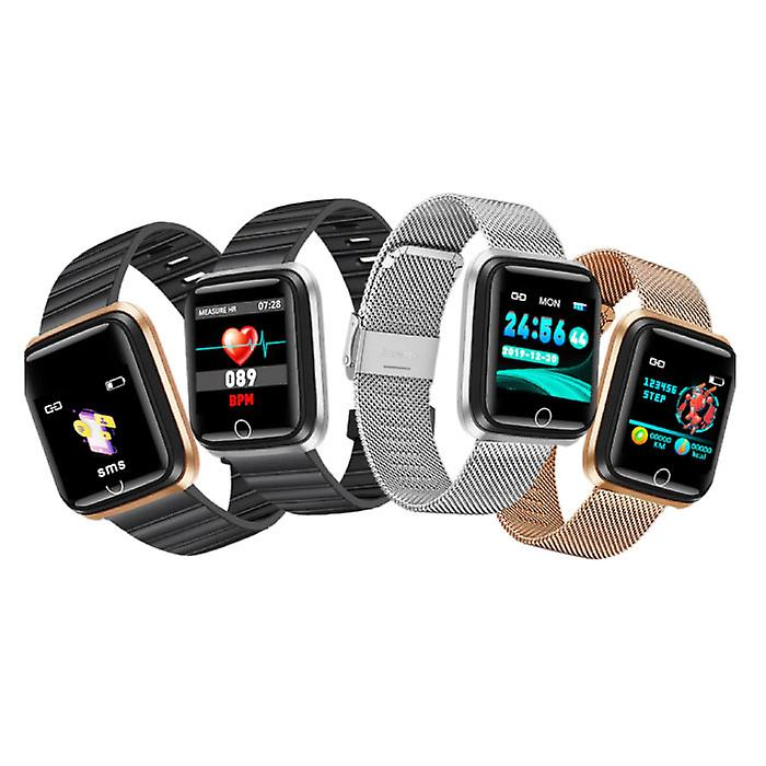 BangWei Fashion Sports Smartwatch Fitness Sport Activity Tracker Smartphone Watch iOS Android iPhone Samsung Huawei Gold Metal