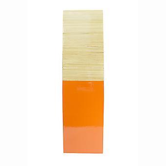 """6.75"""" X 6.75"""" X 24"""" Florero de bambú de madera natural con tonos"""