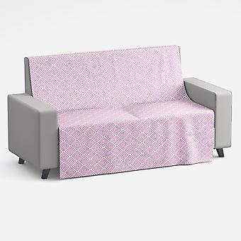 Meesoz Couvre-canapé - Deco Rhombs Pink