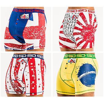 Internationaal deel 1 - 4 Pack Smokkel Duds Boxer Briefs | Boxer Shorts | Heren Ondergoed