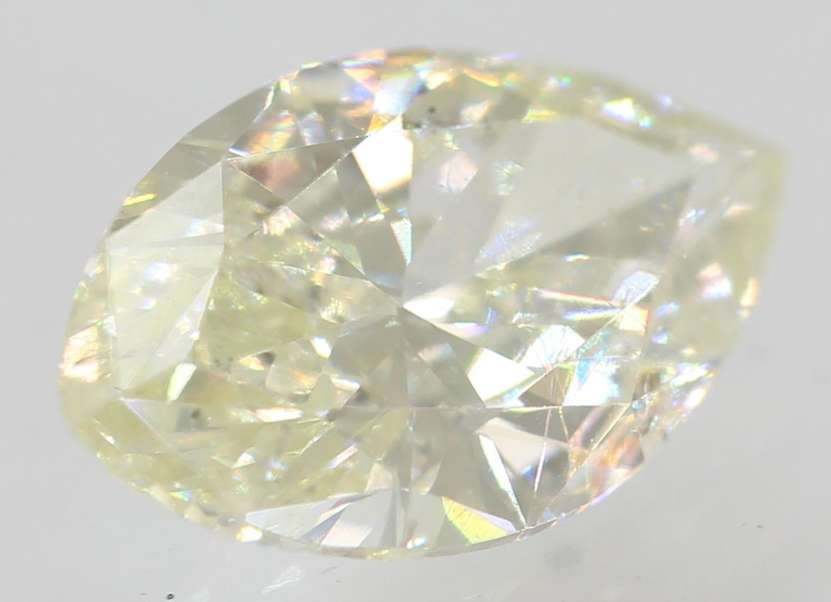 Certified 0.61 Carat J VS1 Marquise Enhanced Natural Loose Diamond 8.18x4.68mm