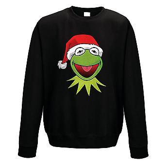 Unisex The Muppets Santa Kermit Black Christmas Jumper