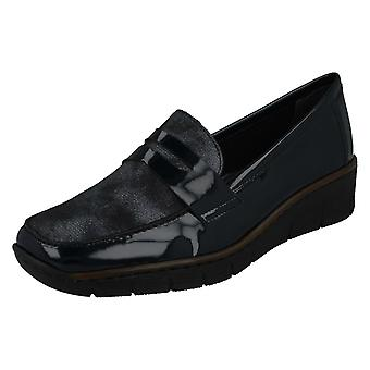 Ladies Rieker Smart Loafer Style Shoes 53732