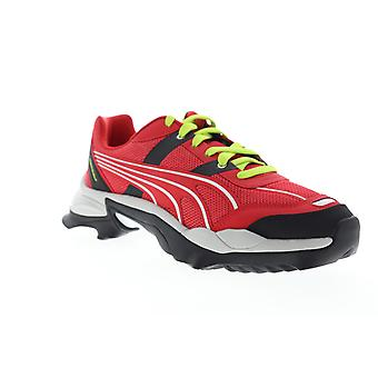 Puma Nitefox Highway  Mens Red Mesh Lace Up Low Top Sneakers Shoes