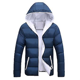 Allthemen Men's Solid Hodded Coat Winter Warm Outwear Hoodies