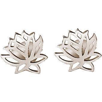 Gemshine korva korut Lotus Flower Stud korva korut 925 hopea, kullattu tai ruusu