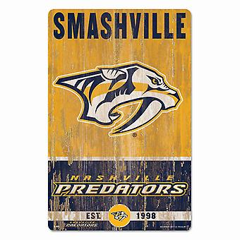 Wincraft NHL Wooden Shield SLOGAN Nashville Predators 43x28cm