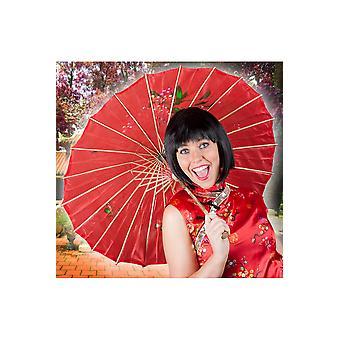 Ombrelloni e ombrello cinese fan rosso