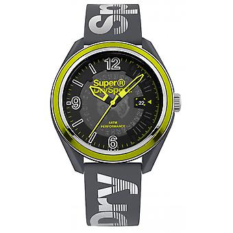 Superdry Osaka Sport SYG250E watch - shows yellow and gray display analog man