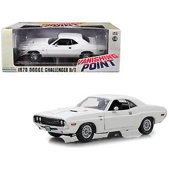 1970 Dodge Challenger R/T White Vanishing Point (1971) Movie 1/18 Diecast Model Car By Greenlight