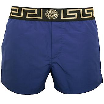 Versace Iconic Luxe Badeshorts, Bluette/Gold